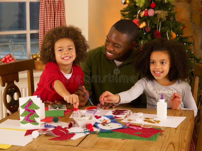 kart dzieci bożych narodzeń ojca robienie zdjęcia royalty free
