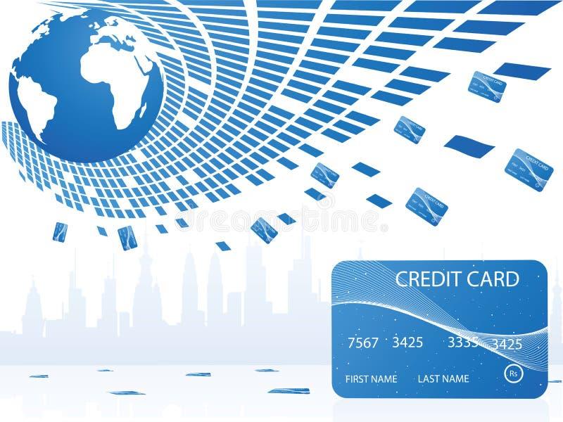 kart kredyta basen ilustracja wektor
