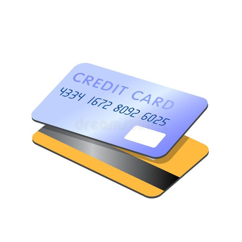 kart kredyta wektor ilustracji