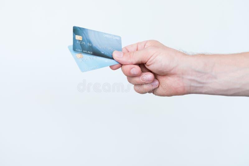 Kart kredytowych bankowość operacji elektroniczny pieniądze fotografia stock