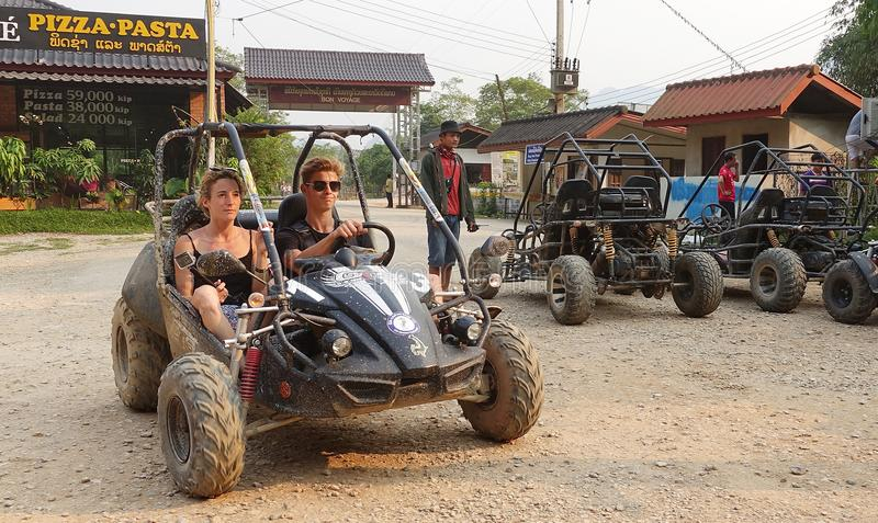 Kart in Laos stock fotografie