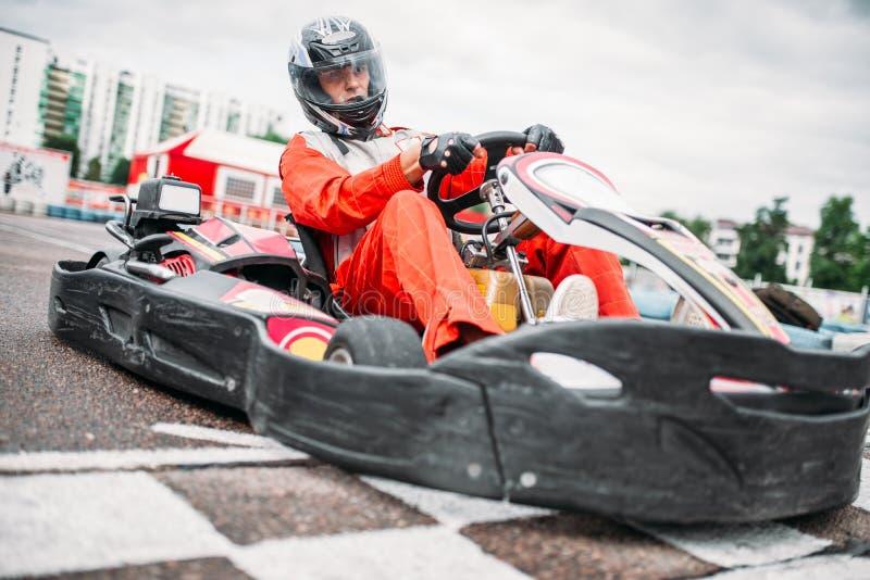Download Kart Racer On Start Line, Go Cart Driver Stock Image - Image of game, motorized: 95739251
