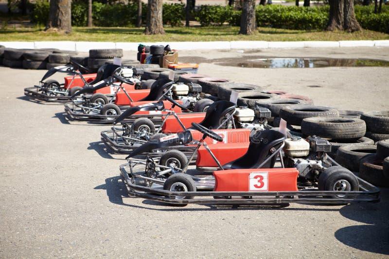 Kart Racing. royalty free stock photo
