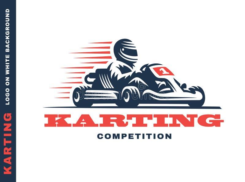 Kart rennende winnaar stock illustratie