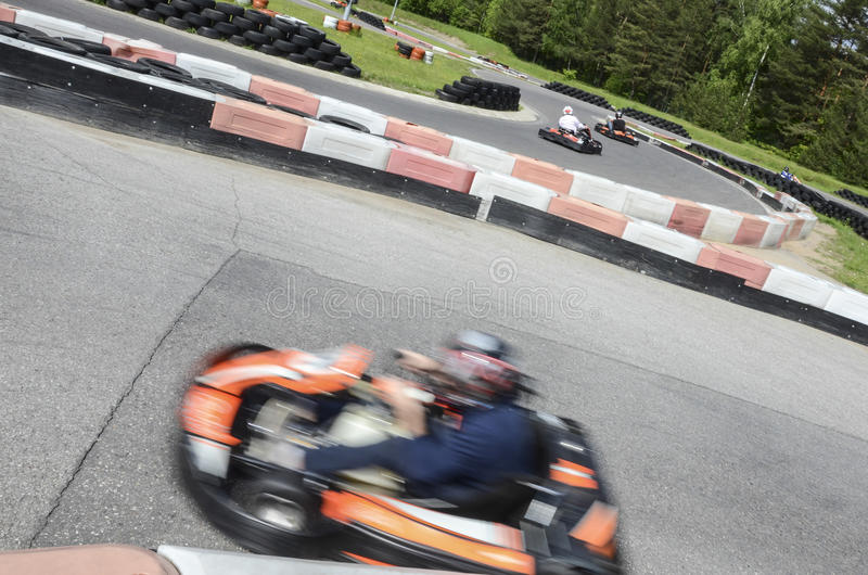 Kart track royalty free stock images