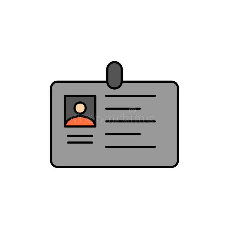 Karta, biznes, Korporacyjny, Id, ID karta, tożsamość, przepustka koloru Płaska ikona Wektorowy ikona sztandaru szablon royalty ilustracja