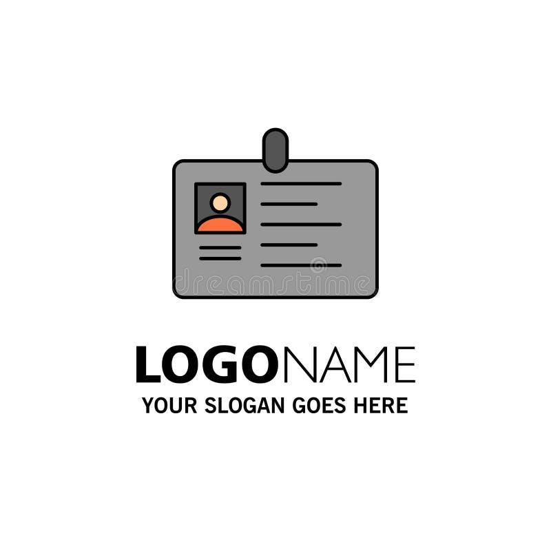 Karta, biznes, Korporacyjny, Id, ID karta, tożsamość, przepustka logo Biznesowy szablon p?aski kolor ilustracji