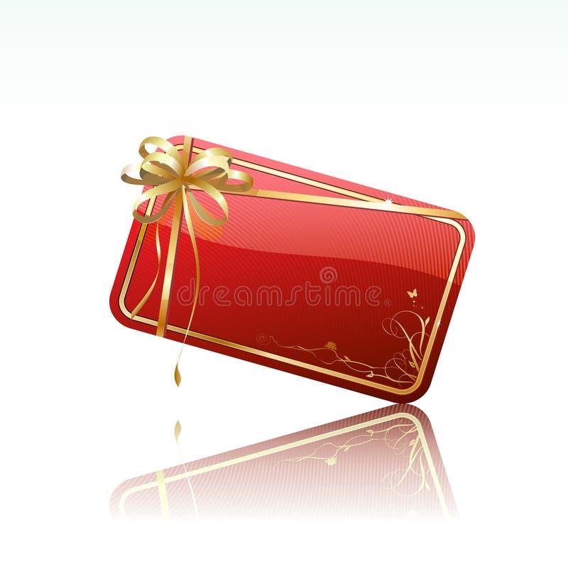 karta dekorująca prezenta czerwień ilustracja wektor
