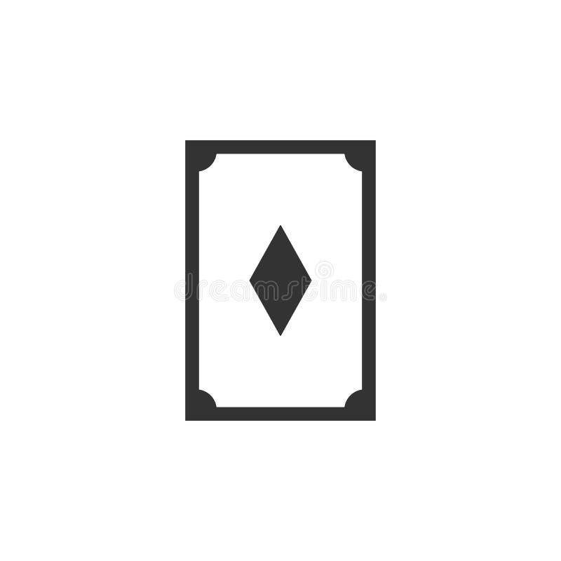 Karta, diament kreskowa ikona Prosta, nowożytna płaska wektorowa ilustracja dla wiszącej ozdoby app, strona internetowa app lub d ilustracja wektor