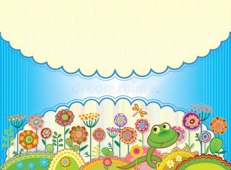 Karta dla gratulacje lub zaproszenia ilustracja wektor