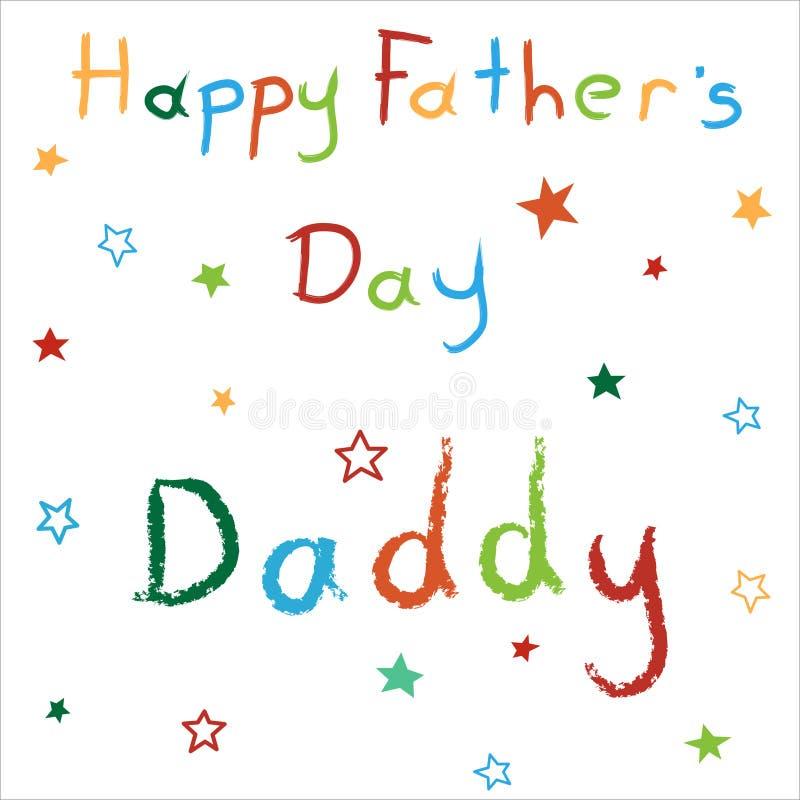 Karta dla Szczęśliwego ojca dnia ilustracji