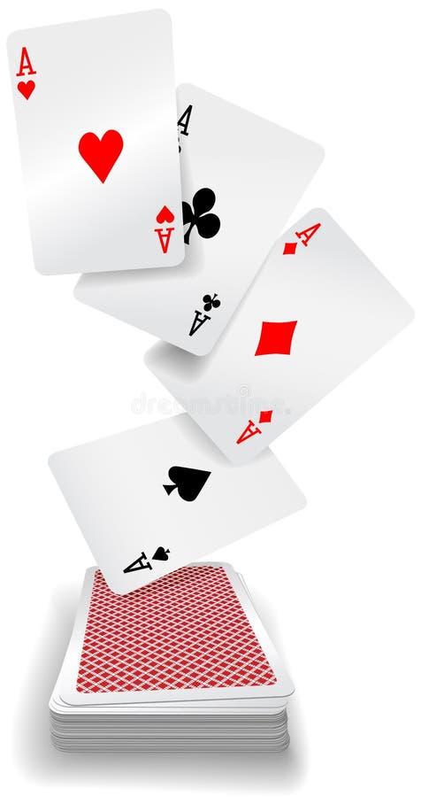 Karta do gry as grzebaka pokład royalty ilustracja