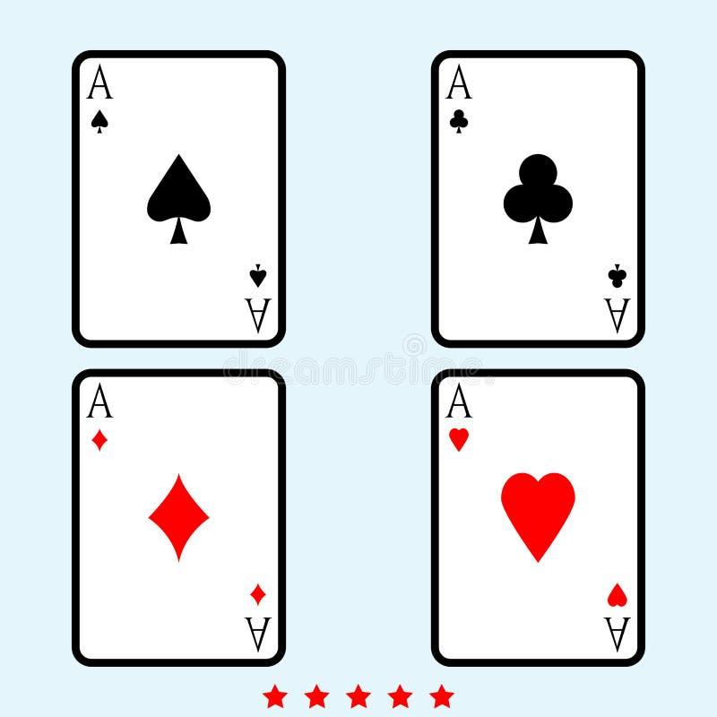 Karta do gry ikony koloru pełni Ilustracyjny styl ilustracja wektor