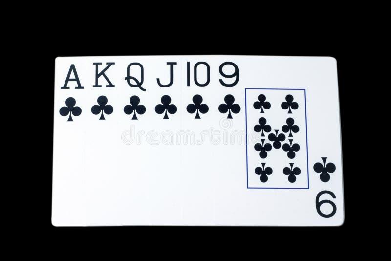 Karta do gry na czarnym tle, pojęciu wielki i wygranie, obrazy royalty free