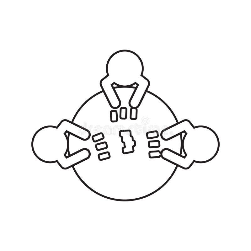 karta do gry przy stołową ikoną Element cyber ochrona dla mobilnego pojęcia i sieci apps ikony Cienka kreskowa ikona dla strona i royalty ilustracja