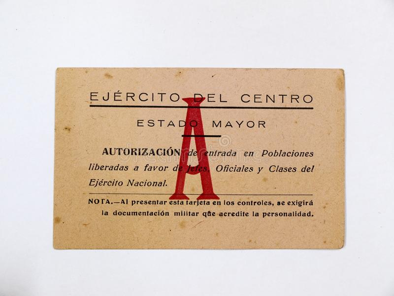 Karta Francoist wojsko centrum spanish cywilna wojna obraz royalty free
