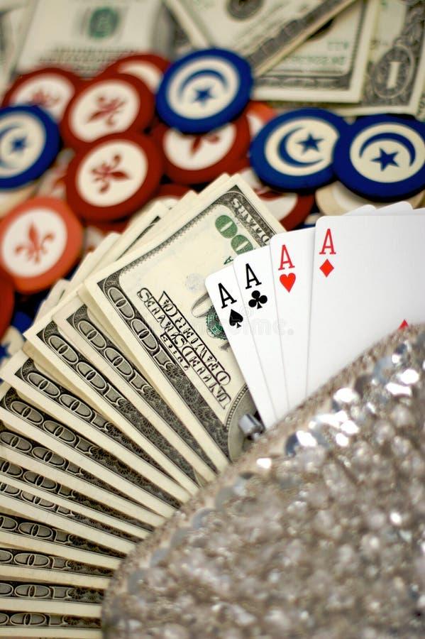 karta frytki w pokera torebka zdjęcia stock