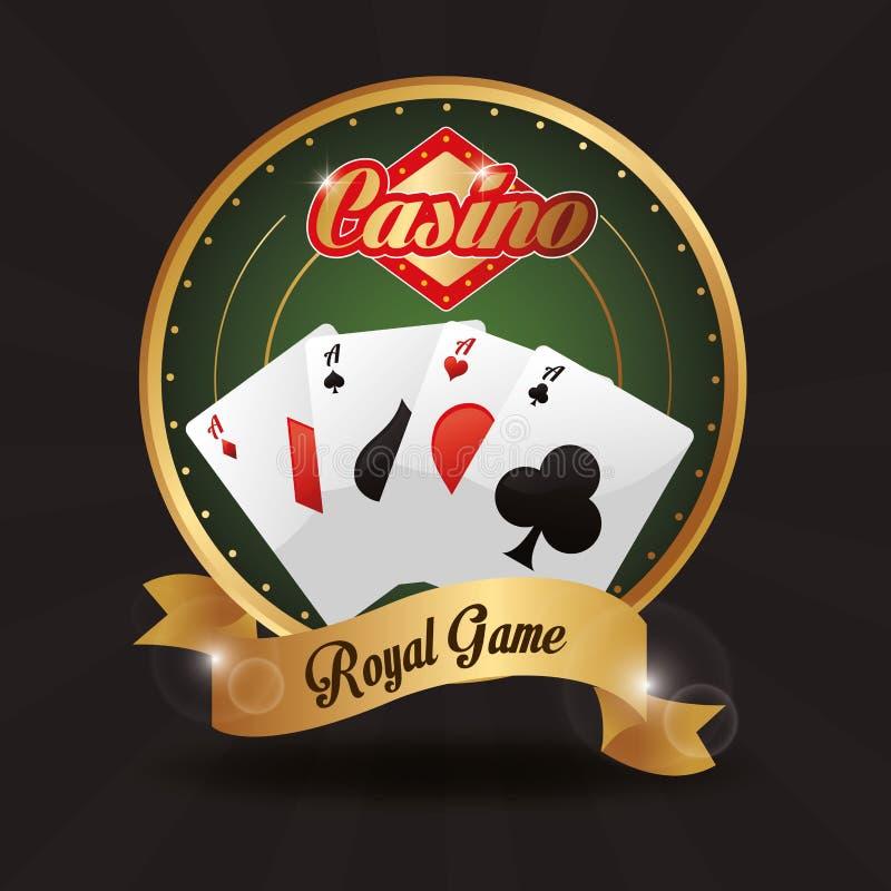 Karta guzika lasów Vegas gry kasynowa ikona ilustracja wektor