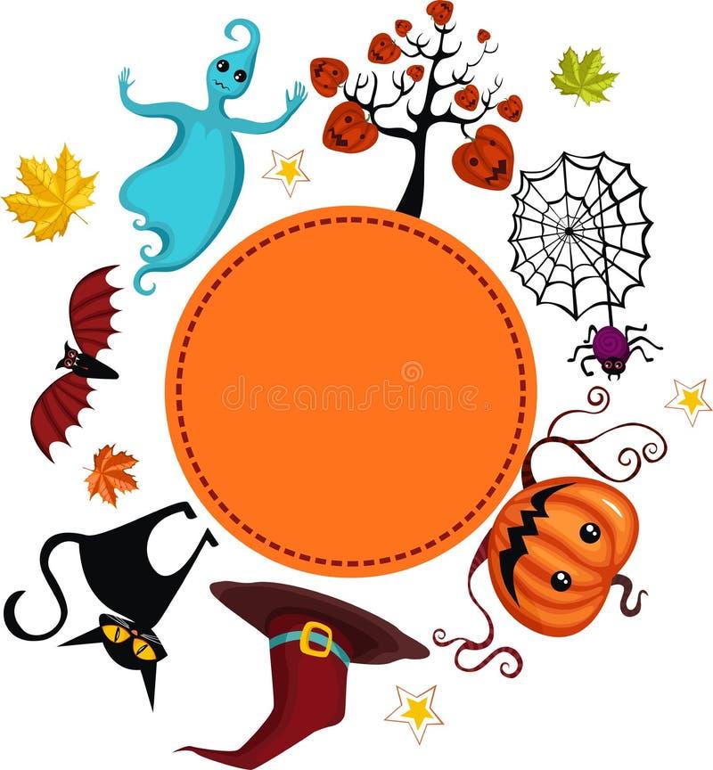 karta helloween ilustracji
