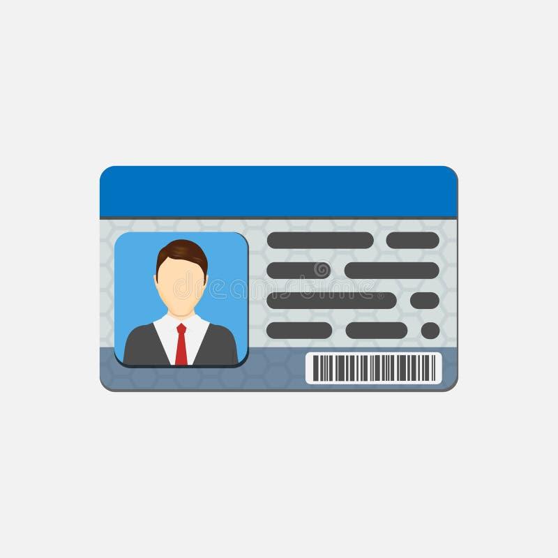 Karta identyfikacyjna Informacja osobista dane Tożsamość dokument z osoba teksta i fotografii clipart pojedynczy białe tło Vecto royalty ilustracja