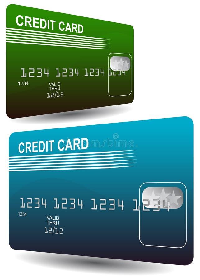 karta kredyt ilustracja wektor