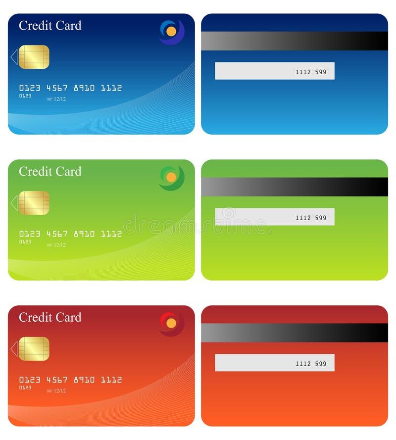 karta kredyt royalty ilustracja