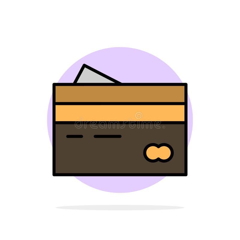 Karta kredytowa, bankowość, karta, karty, kredyt, finanse, pieniądze, zakupy okręgu Abstrakcjonistycznego tła koloru Płaska ikona ilustracji