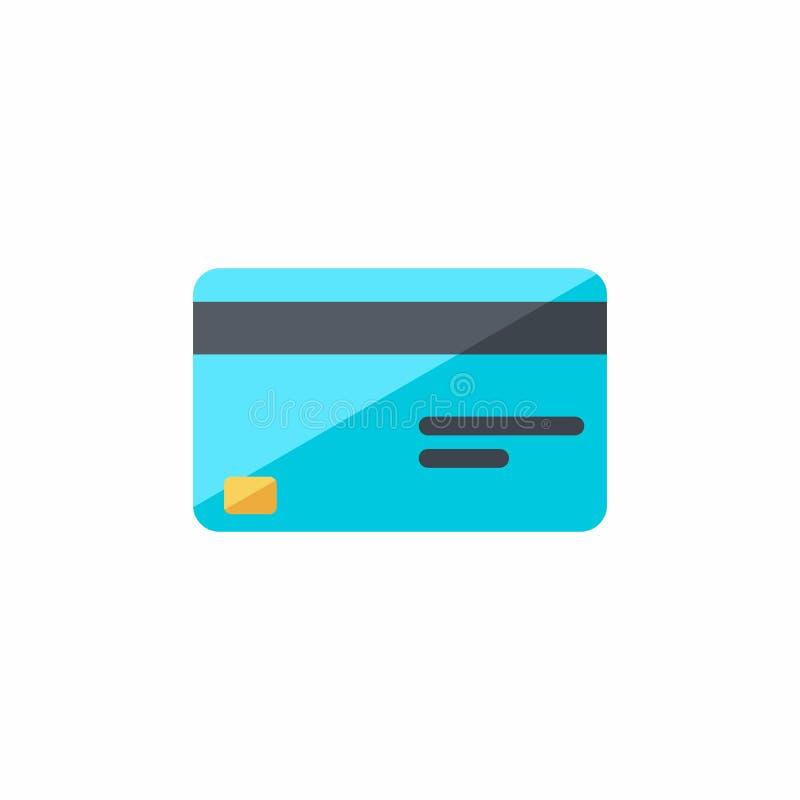 Karta kredytowa, finanse, biznes, Żadny tło, wektor, Płaska ikona ilustracja wektor