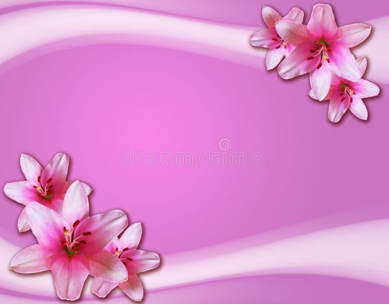 karta kwitnie romantycznego ilustracja wektor