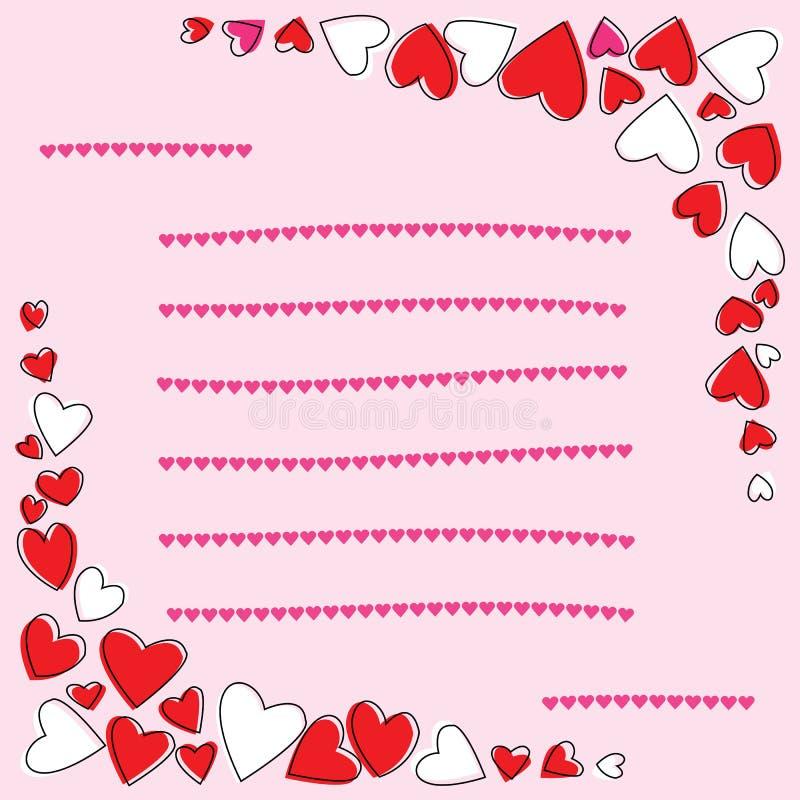 Download Karta miłość ilustracja wektor. Ilustracja złożonej z arte - 28966536