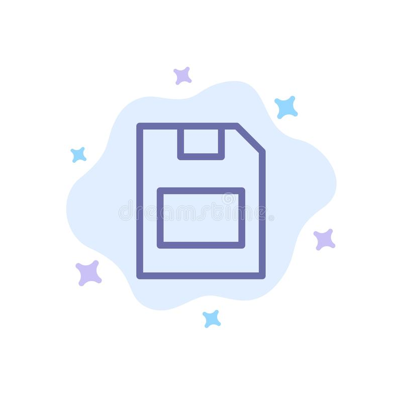 Karta, karta pamięci, magazyn, dane Błękitna ikona na abstrakt chmury tle ilustracja wektor