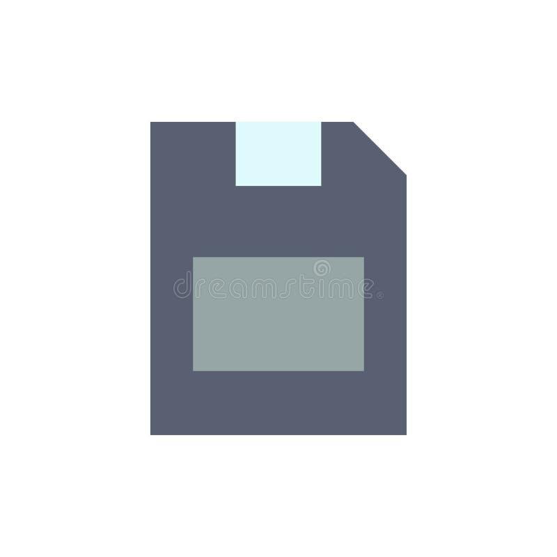 Karta, karta pamięci, magazyn, dane koloru Płaska ikona Wektorowy ikona sztandaru szablon royalty ilustracja