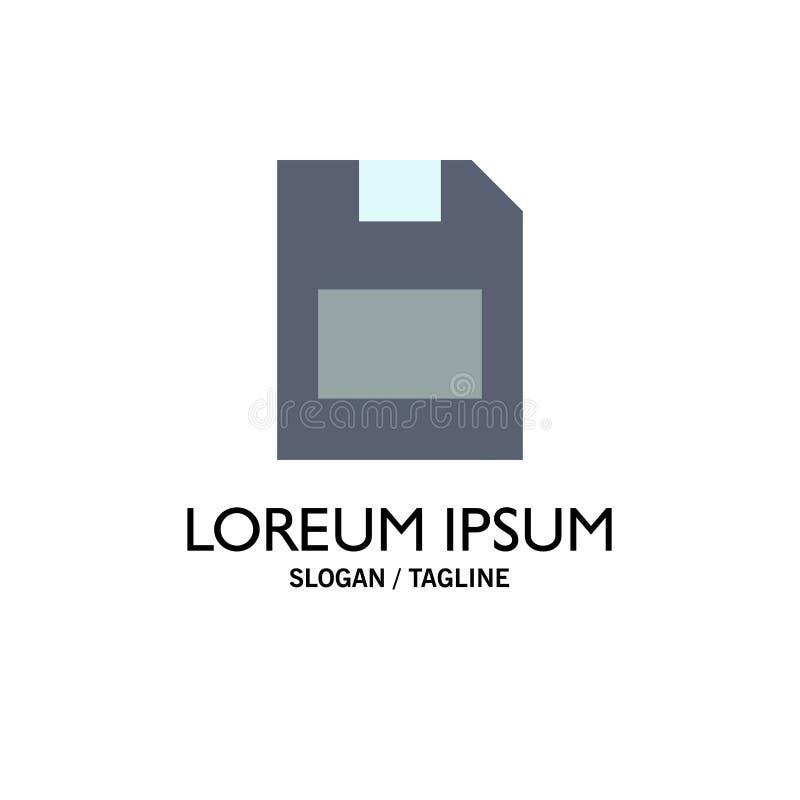 Karta, karta pamięci, magazyn, dane logo Biznesowy szablon p?aski kolor ilustracja wektor
