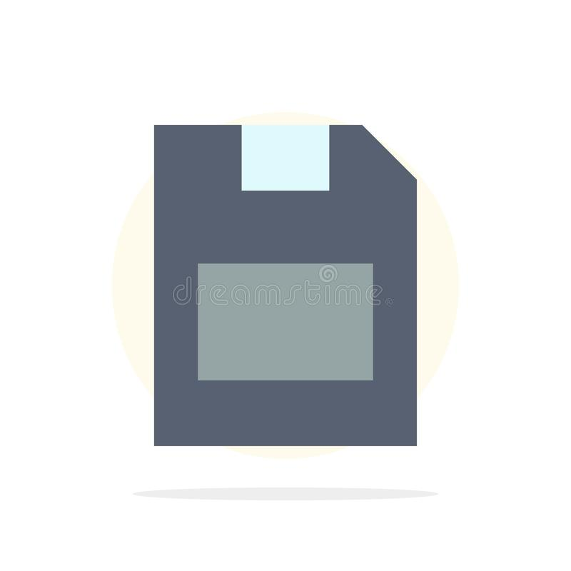 Karta, karta pamięci, magazyn, dane okręgu Abstrakcjonistycznego tła koloru Płaska ikona ilustracja wektor