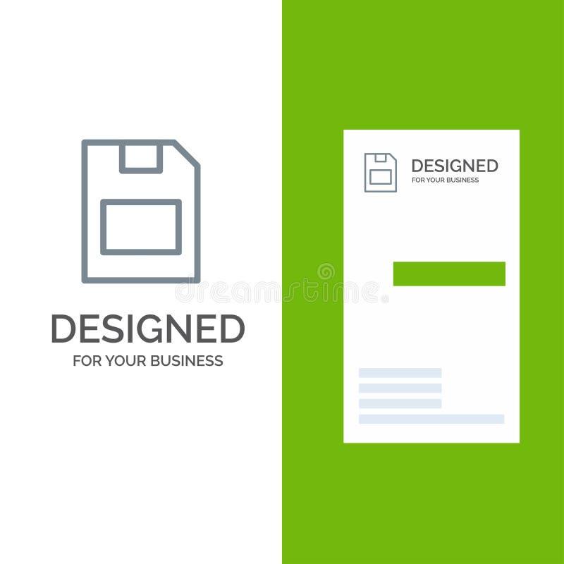 Karta, karta pamięci, magazyn, dane Siwieje logo projekt i wizytówka szablon ilustracja wektor