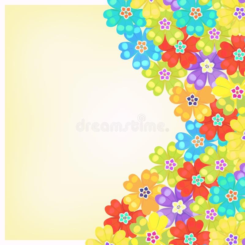 Karta wiosny primula kwiaty również zwrócić corel ilustracji wektora royalty ilustracja