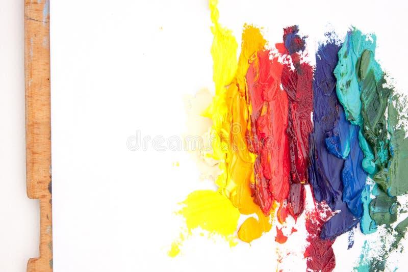 Karta z abstrakcjonistycznym obrazem olejnym obraz stock