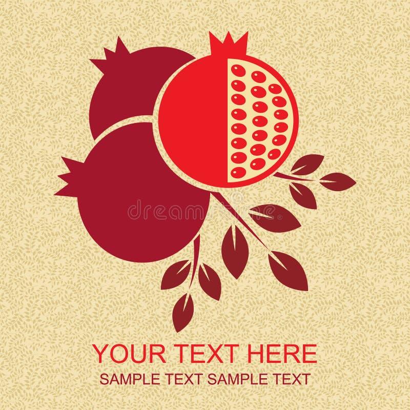 Karta z granatowem również zwrócić corel ilustracji wektora ilustracja wektor
