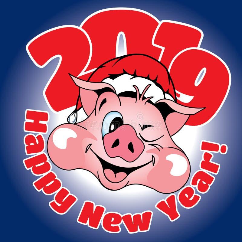 Karta z gratulacje na nowym roku obraz stock