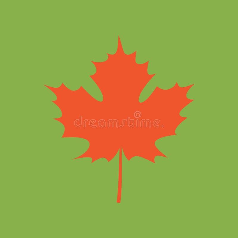 Karta z jesień liściem klonowym ilustracja wektor