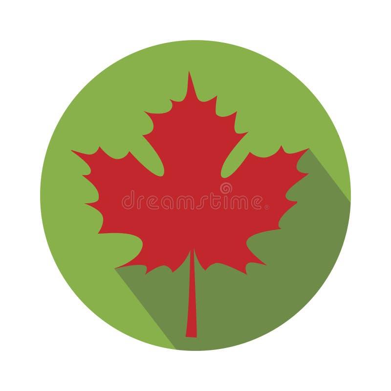 Karta z jesień liściem klonowym ilustracji