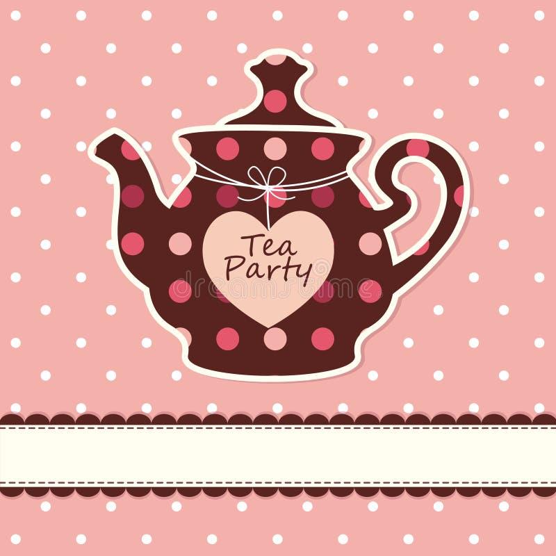 Karta z teapot ilustracji