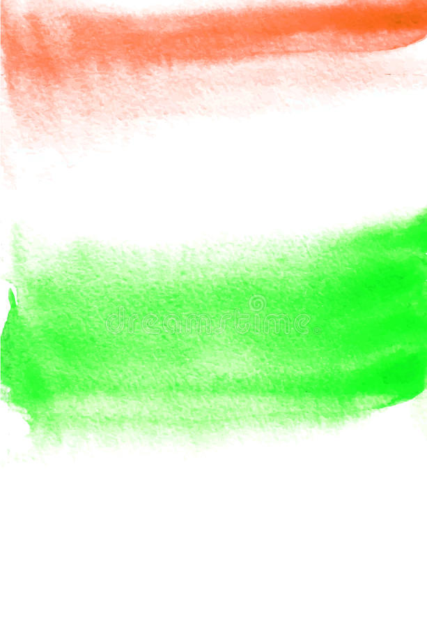 Karta z zieleni i czerwieni kleksami Akwarela obraz dla projekta struktura abstrakcyjna ilustracja wektor