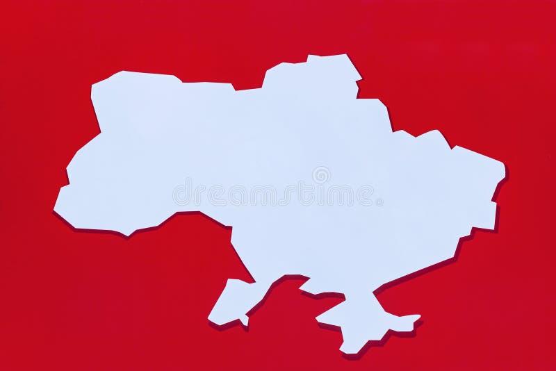 Kartan över Ukraina fotografering för bildbyråer