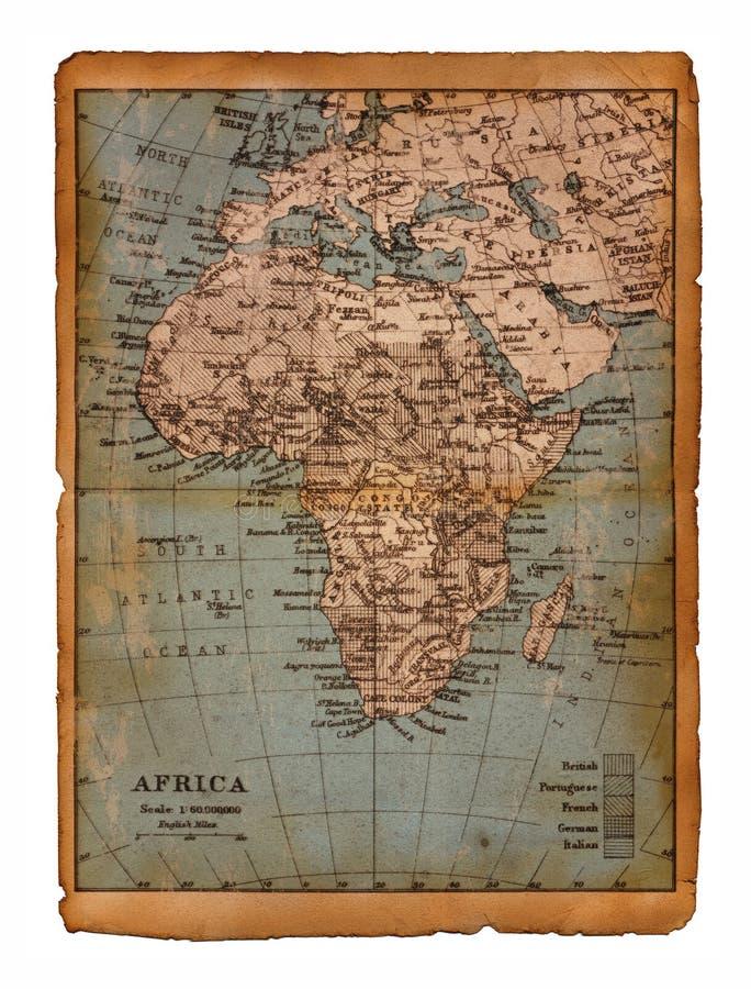 Karte 33 von Afrika lizenzfreie abbildung