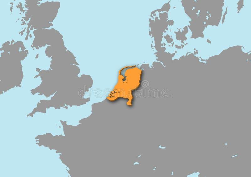 Karte 3d von den Niederlanden vektor abbildung