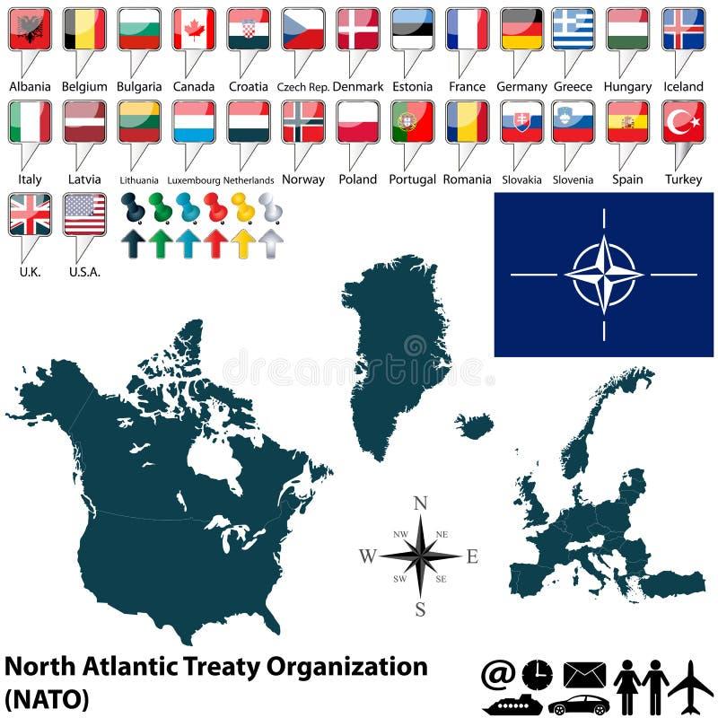 Karte auf NATO stockbild