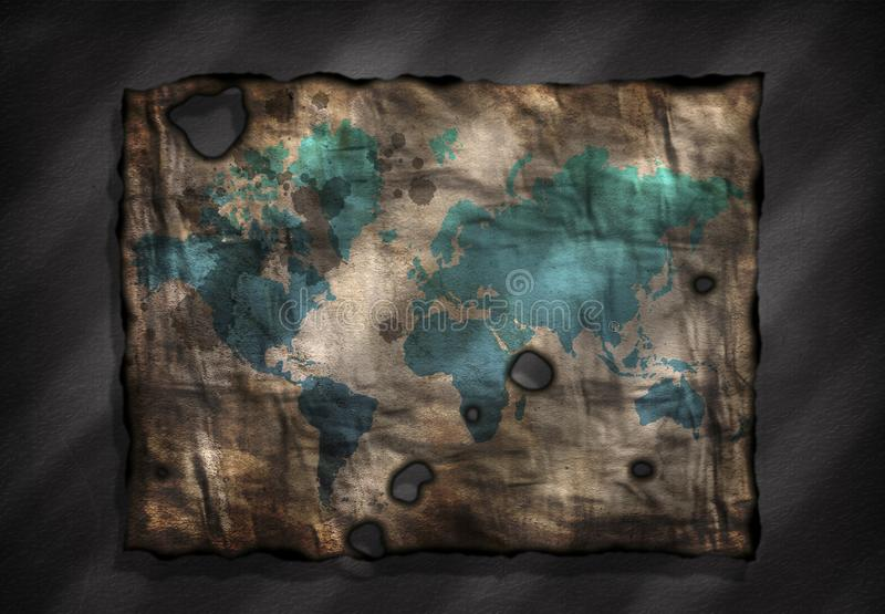 Karte der Alten Welt lizenzfreie abbildung