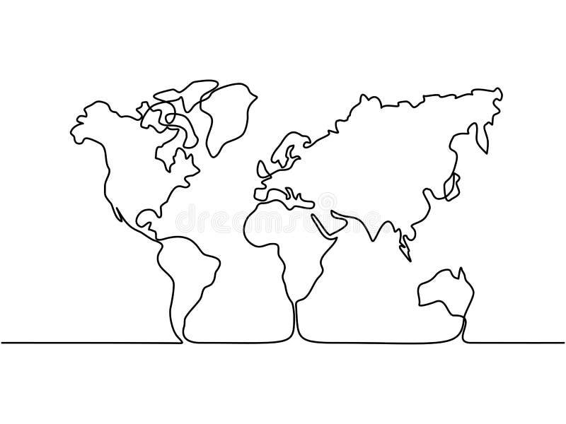 Karte der Erde stock abbildung