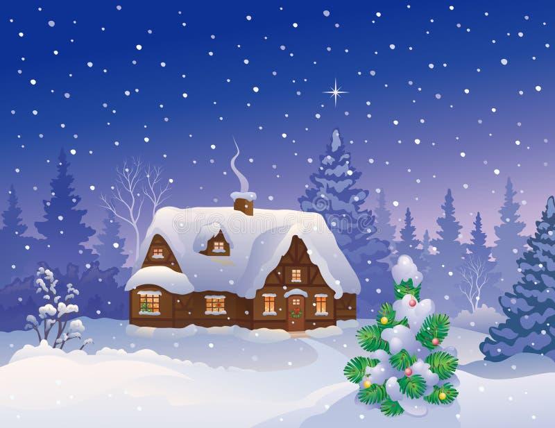Karte der frohen Weihnachten stock abbildung